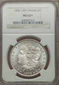 Morgan Dollars: , 1878 7/8TF $1 Strong MS62+ NGC. NGC Census: (998/2772). PCGS Population (1311/4360). Mintage: 544,000. Numismedia Wsl. Pric...