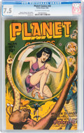 Golden Age (1938-1955):Science Fiction, Planet Comics #44 (Fiction House, 1946) CGC VF- 7.5 Off-white towhite pages....