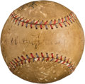 Autographs:Baseballs, 1930's Babe Ruth, Lou Gehrig, Walter Johnson & Others Multi Signed Baseball....