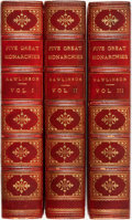 Books:World History, George Rawlinson. The Five Great Monarchies of the Ancient Eastern World. New York: Scribner, Welford, and Co., 1871... (Total: 3 Items)