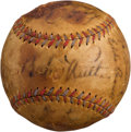 Autographs:Baseballs, Early 1930's Babe Ruth & Lou Gehrig Multi Signed Baseball....