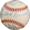Autographs:Baseballs, 1924 World Series Reunion Signed Baseball with President Truman....