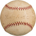 Autographs:Baseballs, 1932-33 New York Yankees Partial Team Signed Baseball with BabeRuth....