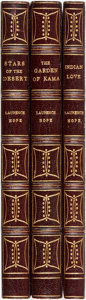 Books:Literature 1900-up, Laurence Hope (Adela Florence Nicolson). Group of Three Novels.London: William Heinemann, 1907-1911, Later printings. Unifo...(Total: 3 Items)
