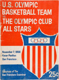 Basketball Collectibles:Programs, 1956 Bill Russell & K.C. Jones Signed Olympic BasketballProgram....