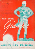 Football Collectibles:Programs, 1944 NFL Championship Program - Packers Victory Over the Giants....