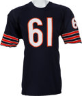 Football Collectibles:Uniforms, 1963-64 Bill George Game Worn Chicago Bears Jersey - Five Team Repairs!...
