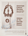 Boxing Collectibles:Autographs, 1978 Muhammad Ali Signed Dinner Program. ...