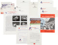 Football Collectibles:Others, 1960-85 New England/Boston Patriots Letterhead, Schedules & Ephemera Lot of 9....