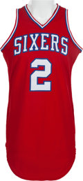 Basketball Collectibles:Uniforms, 1982-83 Moses Malone Game Worn Philadelphia 76ers Jersey. ...