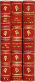 Books:Literature 1900-up, [George Cruikshank, illustrator] The Comic Almanack. London:John Camden, [1835-1853]. Three volumes only, of four. ... (Total:3 Items)