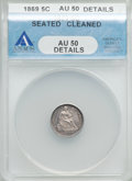 Seated Half Dimes: , 1869 H10C -- Cleaned -- ANACS. AU50 Details. NGC Census: (1/99). PCGS Population (2/94). Mintage: 208,000. Numismedia Wsl. ...