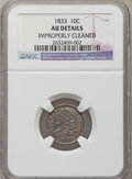 Bust Dimes, 1833 10C -- Improperly Cleaned -- NGC Details. AU. NGC Census:(6/229). PCGS Population (20/221). Mintage: 485,000. Numisme...