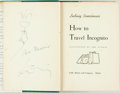 Books:Literature 1900-up, [Featured Lot] Ludwig Bemelmans. SIGNED WITH ORIGINAL DRAWING. How to Travel Incognito. Boston: Little, Brown, [1952...
