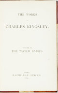 Books:Literature Pre-1900, Charles Kingsley. The Water Babies. Volume IX of TheWorks of Charles Kingsley. London: Macmillan, 1883. Slightl...