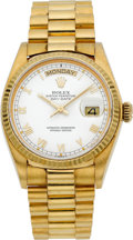 Timepieces:Wristwatch, Rolex Ref. 18038 Gent's Gold Oyster Perpetual Day-Date, circa 1980....