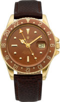 Timepieces:Wristwatch, Rolex Gold Ref. 1675 Oyster Perpetual GMT-Master, circa 1971. ...