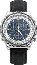 "Timepieces:Wristwatch, Breitling ""Jupiter Pilot"" Steel Chronograph/Stopwatch, Ref. A59028...."