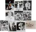 Autographs:Photos, 1940's-60's Baseball Deceased Hall of Famers Signed 8x10Photographs Lot of 40....