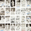 Autographs:Photos, 1930's-50's Baseball Deceased Hall of Famers Rowe Postcards Lot of24....