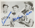 Autographs:Photos, Circa 1990 Ted Williams, Stan Musial & Willie Mays SignedPhotograph....