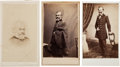 Photography:Cabinet Photos, Union General Samuel P. Heintzelman: Three Carte de Visites& Signature....