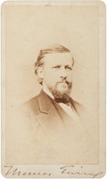 Photography:CDVs, Union General Thomas Ewing, Jr. Signed Carte de Visite, by Brady....