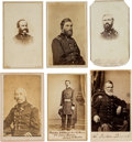 Photography:CDVs, Lot of Six Cartes de Visite of Union Generals and Officers....