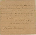 "Autographs:Military Figures, Confederate Captain Benjamin Watkins Leigh, Jr., Killed in Action at Gettysburg, War-Date Autograph Document Signed ""B. W...."