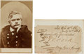 Photography:CDVs, Union Major General Edward Otho Cresap Ord Carte de Visite and Clipped Signature.... (Total: 2 )