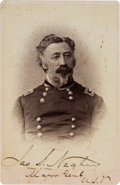 Photography:Cabinet Photos, Union Major General James Scott Negley Signed Cabinet Card....