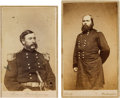 Photography:CDVs, Union Generals Lawrence Pike Graham and George Lucas Hartsuff Carte de Visites....