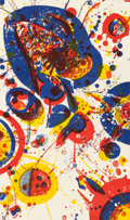 Fine Art - Work on Paper:Print, SAM FRANCIS (American, 1923-1994). An Other Set - X (from thePasadena Box), 1963. Lithograph on Shirikawa rice paper mo...