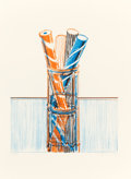 Prints, WAYNE THIEBAUD (American, b. 1920). Glassed Candy (from the Presidential Portfolio), 1980. Lithograph in colors. 29-...
