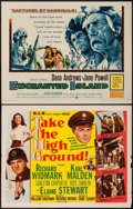 """Movie Posters:War, Take the High Ground & Others Lot (MGM, 1953). Half Sheets (6)& Uncut Lobby Card Sheets (2) (22"""" X 28""""). War.. ... (Total: 8Items)"""