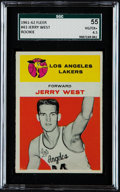 Basketball Cards:Singles (Pre-1970), 1961 Fleer Jerry West #43 SGC 55 VG/EX+ 4.5. ...