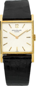 Timepieces:Wristwatch, Patek Philippe Ref. 3479 Very Fine 18k Gold Square Gentleman's Wristwatch, circa 1965. ...