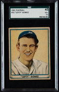 Baseball Cards:Singles (1940-1949), 1941 Play Ball Lefty Gomez #72 SGC 45 VG+ 3.5. ...