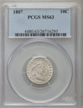 Early Dimes: , 1807 10C MS63 PCGS. PCGS Population (33/26). Mintage: 165,000.Numismedia Wsl. Price for problem free NG...