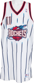 Basketball Collectibles:Uniforms, 2000's Yao Ming Signed Game Worn Houston Rockets Uniform. ...