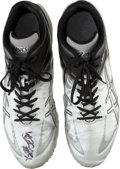 Baseball Collectibles:Others, 2012 Ichiro Suzuki Game Worn Turf Shoes With Ichiro Letter....