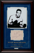 Boxing Collectibles:Autographs, Maxie Rosenbloom Signed Cut Signature Display....