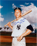 "Baseball Collectibles:Photos, 1980's Mickey Mantle Signed Oversized Photograph Inscribed ""536HR's"". ..."