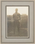 Baseball Collectibles:Photos, 1914 Ty Cobb Original Mounted Photograph....