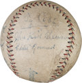 Autographs:Baseballs, 1927 Philadelphia Athletics Partial Team Signed Baseball....