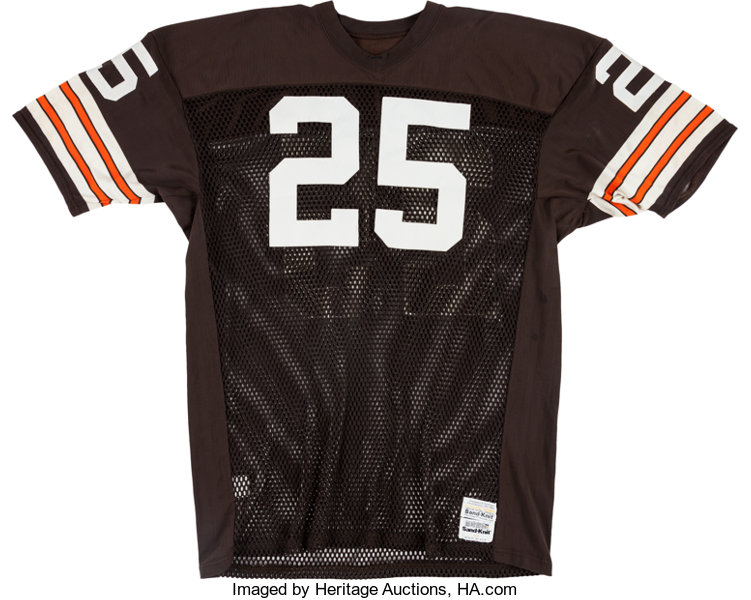 new arrival 9d568 ee9c8 1980-85 Charles White Game Worn Cleveland Browns Jersey ...