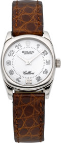 Timepieces:Wristwatch, Rolex Ref. 6229 Lady's White Gold Cellini, Box & Papers. ...