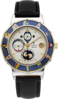 Timepieces:Wristwatch, Corum Ref. 277.830.21 Admiral's Cup Tide Watch. ...