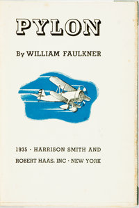 [Featured Lot] William Faulkner. SIGNED/LIMITED. Pylon. New York: Harrison Smith and