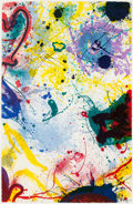 Prints:Contemporary, SAM FRANCIS (American, 1923-1994). Untitled, 1991.Lithograph in colors. 46-1/2 x 30 inches (118.1 x 76.2 cm). Ed.28/50...